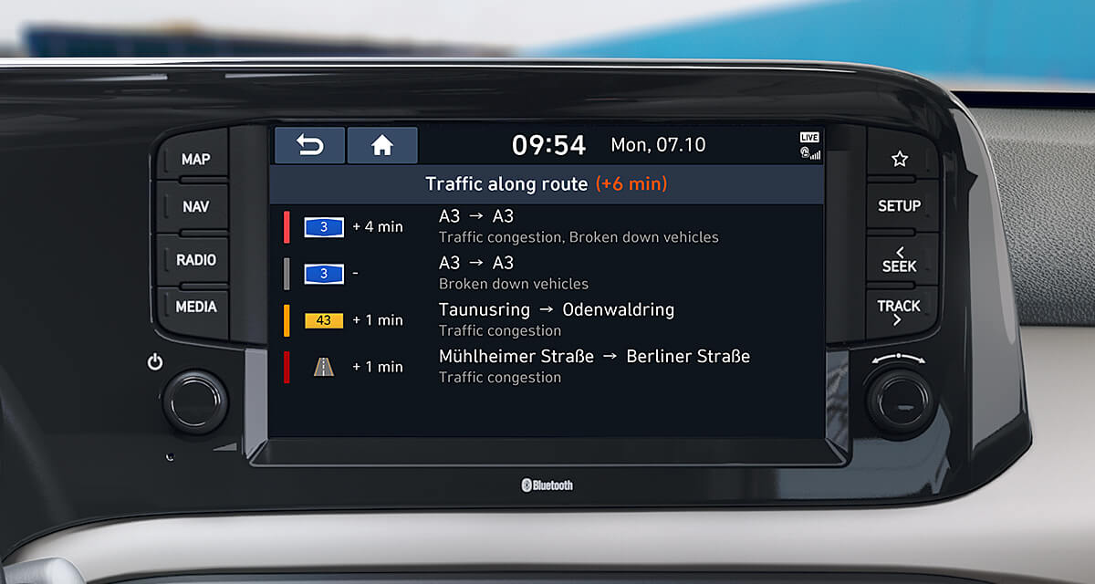 Real time traffic information.